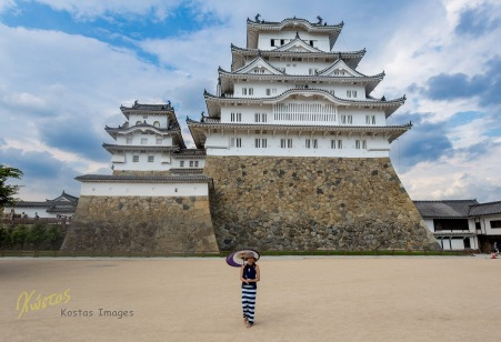Arguably the most beautiful castle in Japan is standing tall demonstrating a superb architecture. It is also a great background for photography! Himeji, Japan
