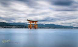 "Another Long exposure of the famous Shrine, from inside the water while the tide was going up! Some times you got to ""dive"" in the photo, to get the result you want. Itsukushima Island, Hiroshima, Japan"