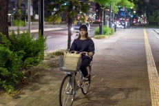 Bikes don't stop even at night, and why should they? Hiroshima, Japan