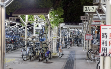 A closer look of what is inside the Bicycle Parking in Hiroshima, great space management!