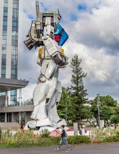 """Life-Size Robot """"Gundam"""" in Tokyo, Japan"""