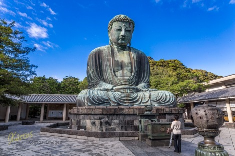 What an impressive Buddha statue this is. Kamakura, Japan.