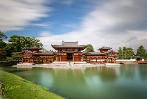 Another shot of the beautiful Byodoin temple, this time a long exposure of 2 minutes, for the additional effect of the water and sky. Movement of clouds and water vs the stillness of the temple. Uji, Kyoto, Japan.