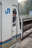 I chose this portrait of the lady driver to comment on the hard work and dedication of the train drivers in Japan. They were polite, on time, focus, and most imporant: PRESENT. Never seen anything like this before. Great job guys!