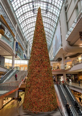 Huge Christmas Tree in Eaton Center Mall (Biggest in Canada), Toronto