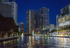 Miami River Night view