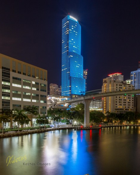 Miami Tower blue reflection