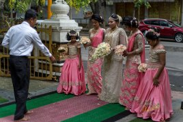 June was the month of weddings, many were held in the Buddhist Temples.