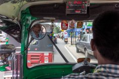 The city's traffic jam can stop even a Tuk Tuk tricycle.