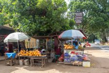 Caption of the numerous fruit kiosks that one can find in Sri Lanka roads even at the most distant areas. Offering much needed hydration and vitamins to the travelers.