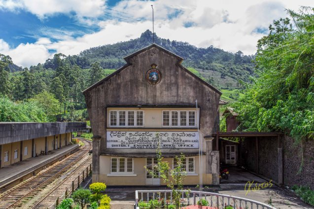 District Engineer's Office building, I chose it for the background, Nuwara Eliya, Sri Lanka