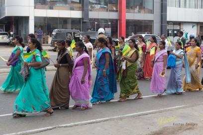 Saree ladies during Galle Procession