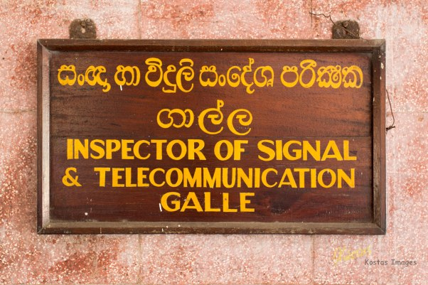 I just found this label interesting. This is the office of the Inspector of Signal and Telecommunication. Railway station, Galle, Sri Lanka
