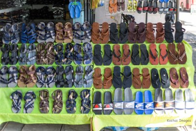 Variety of the very much used sandals. My kind of shoes! Colombo, Sri Lanka.