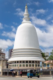 "Stupa or ""pagoda"" located in Sri Sambuddhaloka Vehara, Colombo, Sri Lanka."