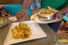 The experience of tasting the traditionally prepared local Biriyani rice.