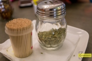 After each meal the Indian restaurants have a service of Fennel. A natural mouth freshener!