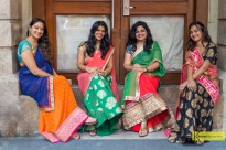 Four beautiful ladies in their Sarees from an unexpected photoshoot (thanks to my friend Albana) during our visit in Mumbai...