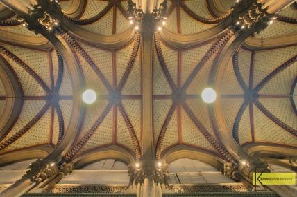 "Ceiling of the Historic ""Victoria Terminus"" Train Station in Mumbai"