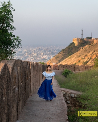 "A walk in Nahargarh, the ""Tiger Fort"", Jaipur India."