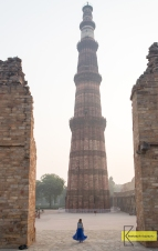 The tremendous Qutub Minar in Delhi. What a construction! Built in 1193, reaching an impressive at that time 73 meters of height.