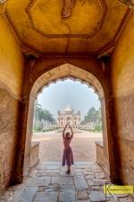 HDR Portrait at Safdarjung Tomb entrance, Delhi, India.