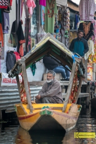 Boat portrait while doing some shopping in Lake Dal, Kashmir.