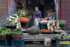 Vegetable store in Srinagar, Kashmir