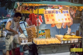 Fan Tuan (Rice Roll) stall in Taipei, Taiwan... The Absolute BEST in the area! Starting from early in the morning the couple is making their delicious and healthy snacks for their many many local customers (that must mean something, right?). One of our most memorable foods in Taiwan
