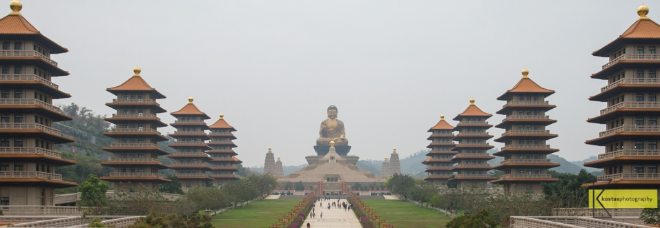 The amazingly huge Buddha statue in Dashu District, Kaohsiung, Taiwan.