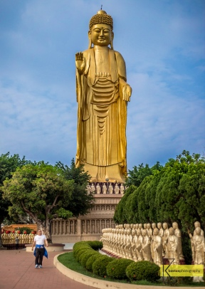 Fo Guang Shan Great Buddha Land (佛光山大佛城). Magnificent Standing Buddha Statue in Kaohsiung City, Taiwan.