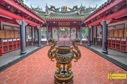 HDR photo from the interior of a Taoist temple dedicated to Xuan Tian God. Tainan city, Taiwan.