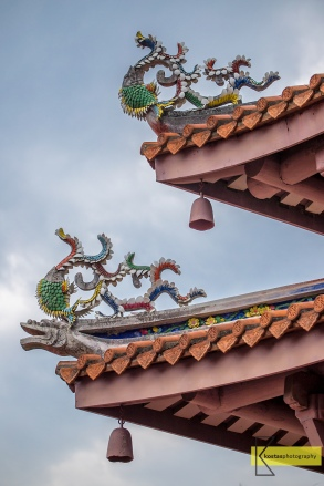 Detail from the amazing roof decoration of Confucius Temple, Tainan