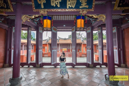 Inside view of the Confucius Temple, Tainan