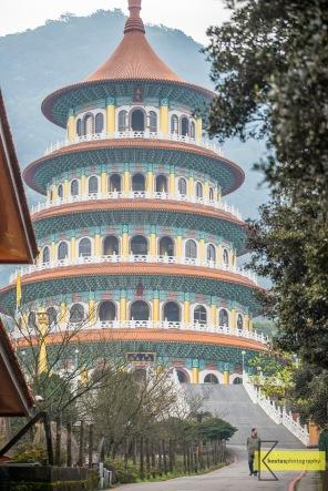 Wuji Tianyuan Temple in Tamsui. Minimalist portrait.