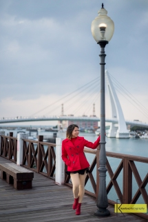 Lover's Bridge portait. Fisherman's Wharf, Tamsui, Taiwan.