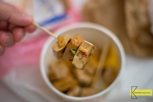 "The famous ""Stinky Tofu"" of Taiwan that we tried was not from a restaurant but traditionally from a street vendor, home made. Note: it's not stinky at all, it's very tasty!"
